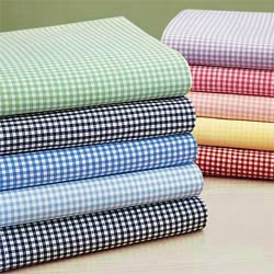 Round Crib Primary Gingham Sheet