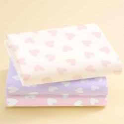 Moses Basket Pastel Hearts Sheet