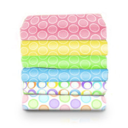 Pastel Bubbles Woven Cotton Crib Sheet