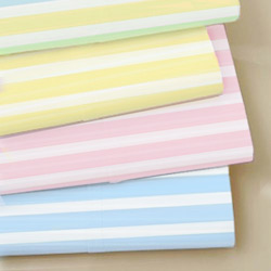 Pastel Stripes Woven Cotton Crib Sheet