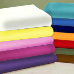 Round Crib Cotton Percale Sheet