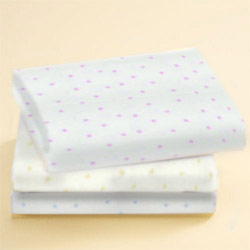 Round Crib Jersey Knit Pindot Sheet