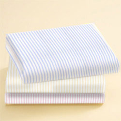 Pinstripes Jersey Knit Crib Sheet