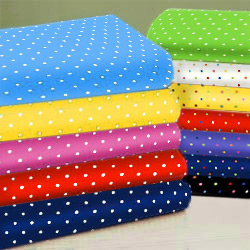 Primary Pindots Woven Cotton Crib Sheet