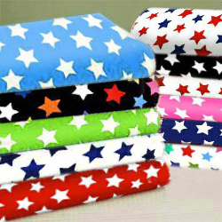 Round Crib Primary Stars Sheet