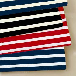 Round Crib Primary Stripes Sheet