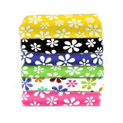 Primary Floral Cotton Porta Crib Sheet