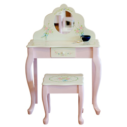 Bouquet Collection Vanity Table & Stool
