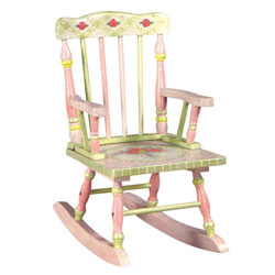Pink Crackle Finish Rocker