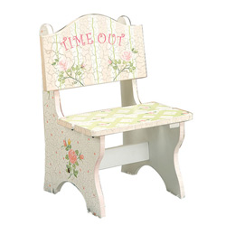 Pink Crackle Finish Time Out Chair