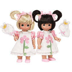 Butterfly Kisses Twin Dolls