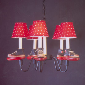 Tennis Shoe Chandelier