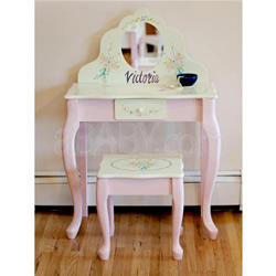 Personalized Bouquet Collection Vanity Table & Stool