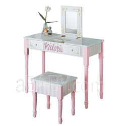 Personalized Vanity Table and Stool