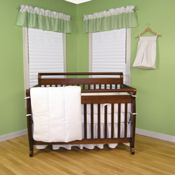 Classic White Pique Crib Bedding Set