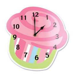 Cupcake Shaped Wall Clock