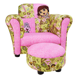 "Dora ""Exploring the Wild"" Club Chair & Ottoman"