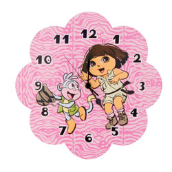 "Dora ""Exploring the Wild"" Wall Clock"
