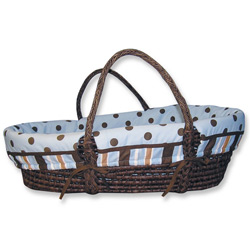 Stripes and Dots Moses Basket