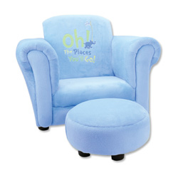 Dr. Seuss <i>Oh, The Places You'll Go!</i> Chair with Ottoman