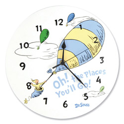 Dr. Seuss <i>Oh, The Places You'll Go!</i> Wall Clock