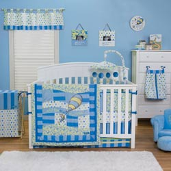 Dr. Seuss <i>Oh, The Places You'll Go!</i> Crib Bedding Set