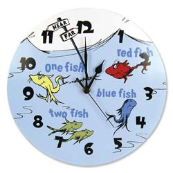 Dr. Seuss <i>One Fish Two Fish</i> Wall Clock