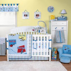 Dr. Seuss <i>One Fish Two Fish</i> Crib Bedding Set