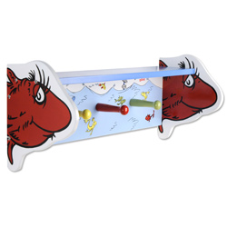 Dr. Seuss <i>One Fish Two Fish</i> Shelf with Peg Hooks