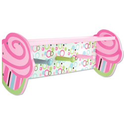 Cupcake Shelf with Peg Hooks