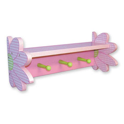 Darling Daisy Shelf with Peg Hooks