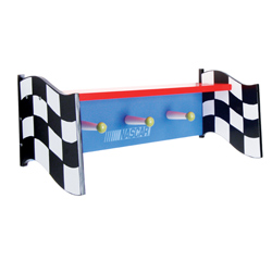 NASCAR® Shelf with Peg Hooks