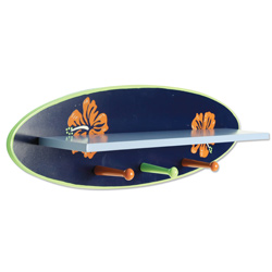 Surf's Up Shelf with Peg Hooks