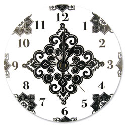 Versailles Black & White Wall Clock