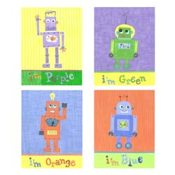 Color Robot Wall Art Collection