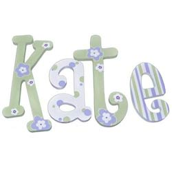 Lavender Lime Twist 8 Inch Wall Letters