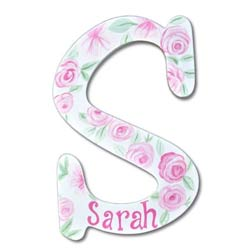 Rose Petals for Sarah 8 Inch Wall Letter