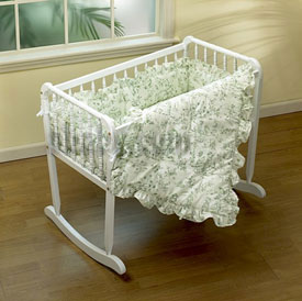 Toile Cradle Bedding