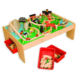 Train Table & 120 Piece Mountain Set
