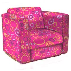 Circles Kid's Upholstered Rocker