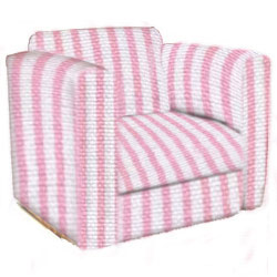 Striped Kid's Upholstered Chair