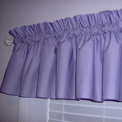 Solid Color Window Valance