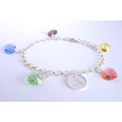 Swarovski Heart Crystal Name Bracelet