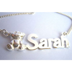 Name Bear Necklace