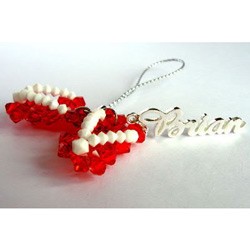 Personalized Sandal Cell Phone Charm