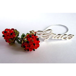 Personalized Strawberry Cell Phone Charm