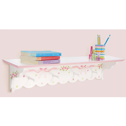 Ballet Blooms Wall Shelf