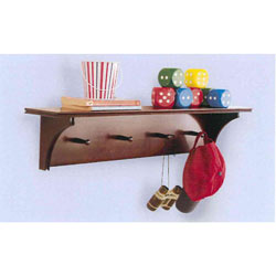 Chocolate Wall Shelf