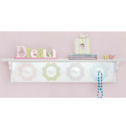 Pretty Petals Wall Shelf