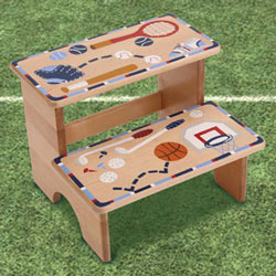 Sports Border Step Stool